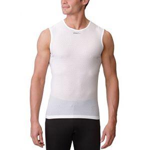 Craft T-Shirt Pro Cool Mesh Superlight Sans Manche Blanc Argent