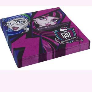Amscan 20 serviettes Monster High 2