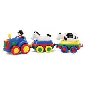 Bébé Découvertes Tracteur à friction et 2 animaux