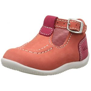 Kickers Bonbek, Sandales bébé fille, Orange (Orange Fuchsia Rose), 21 EU