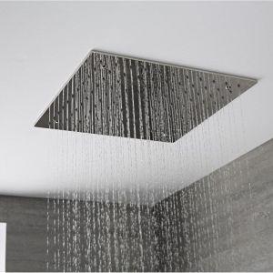 Hudson Reed Pommeau De Douche 40 x 40cm Encastrable Plafond Design Carré Pluie Bienfaisante