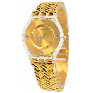 Swatch Femme Digital Quartz Montre avec Bracelet en Plastique SFE106G