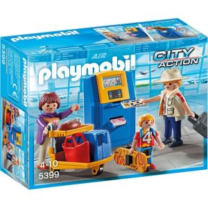 Playmobil 5399 City Action - Famille de Vacanciers et Borne d'enregistrement