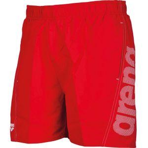 Arena Short de Bain Fundamentals Logo Boxer S Rouge - Rouge/Blanc