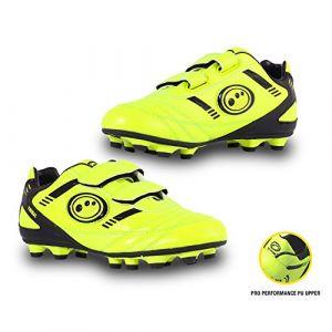Optimum Tribal Velcro Moulded, Football Entrainement Garçon - Jaune (Yellow/Black) - 28 EU (Taille Fabricant:10 Child UK)