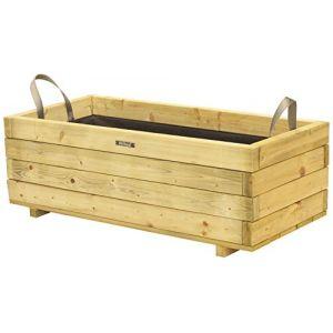 Jardin Outdoor Bac rectangle en bois épicéa autoclave pot 92 x 42 x 32cm - Traité contre les fongicides
