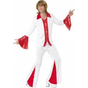 Smiffy's Déguisement disco rouge et blanc homme