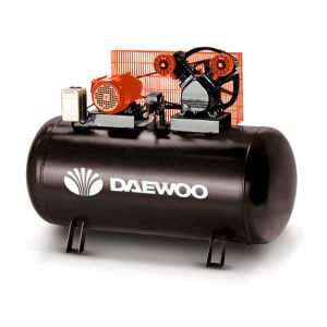 Daewoo DAC300 - Compresseur 300 litres à courroie bi-cylindre en V 4000W 400V