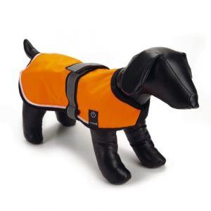 Beeztees Gilet de sécurité nylon avec LED et USB XS, 30 cm - Orange - Taille 30