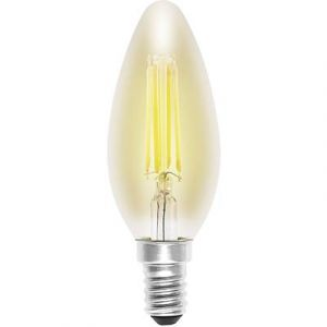 Sygonix Ampoule LED E14 STC3004Amber en forme de bougie 4 W = 33 W or (Ø x L) 35 mm x 99 mm EEC: A++ à filament 1 pc(s)
