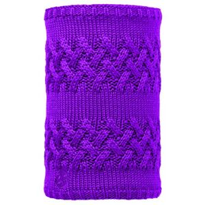 Buff Knitted & Polar Neckwarmer Savva mardi grape