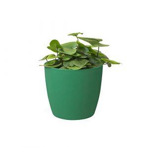 Elho Brussels Rond Mini 9,5 - Pot De Fleurs - Lucky Vert - Intérieur - Ø 10.2 x H 8.7 cm
