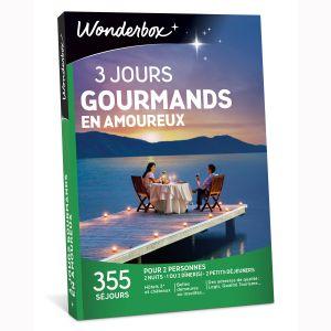 Wonderbox 3 jours gourmands en amoureux - Coffret cadeau 355 séjours