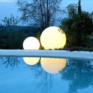Slide Globo Geoline - Out lampe pour l`extérieur avec piquet en inox, diamètre 400 mm