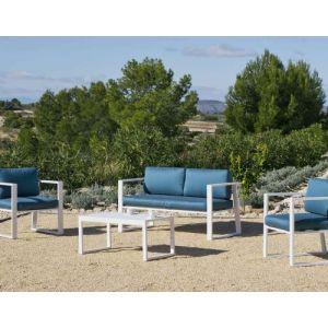 Hévéa Salon de jardin en aluminium 4 places Ayleen