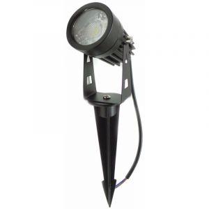Silamp Spot Extérieur Piquet LED COB 3W - couleur eclairage : Blanc Chaud 2300K - 3500K