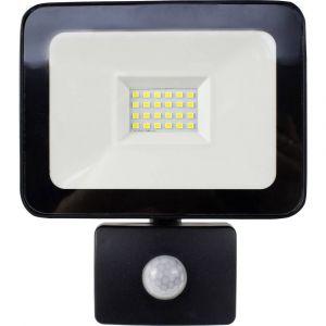 AS - Schwabe 46330 Projecteur LED extérieur avec détecteur de mouvements 20 W blanc neutre