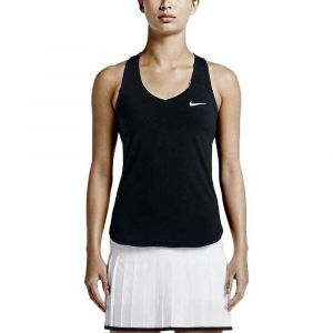 Nike W NKCT Tank Pure Réservoir Femme, Black/White, FR (Taille Fabricant : XS)