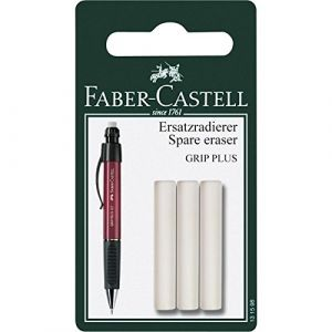 Faber-Castell Gomme de rechange critériums Grip Plus (lot de 3)
