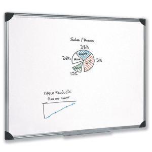 5* office ETL-909315 - Tableau blanc magnétique en acier laqué (120 x 180 cm)