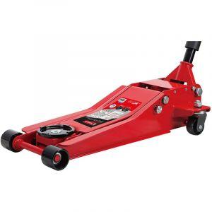 Mw-tools Cric rouleur hydraulique extra bas 2,5 t double pompe CAT25DL