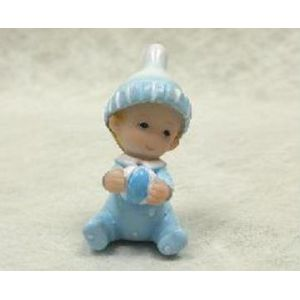 2 figurines en résine bébé garçon