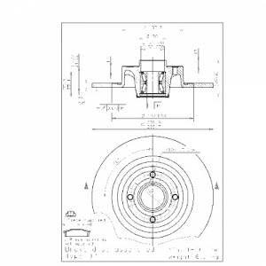Brembo 1 Disque de frein avec roulement 08.A135.17