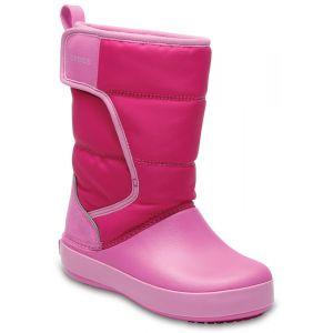 Crocs LodgePoint Snow Boot Kids, Mixte Enfant Bottes, Rose (Candy Pink/Party Pink), 25-26 EU