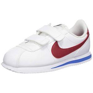 Nike Cortez Basic SL (PSV), Chaussures de Running Compétition garçon, Blanc (White Red/Varsity Royal/Black 103), 32 EU