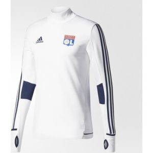 Adidas Pour Homme OL TRG Top Sweat-Shirt Olympique de Lyon L White/Blanco/Maruni