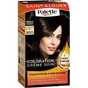 Saint Algue Palette Châtain, crème colorante durable, masque soin à l'huile d'abricot