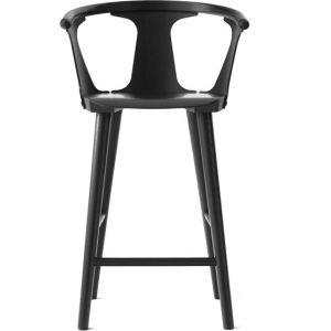&tradition Chaise de bar In Between SK7 / H 65 cm - Chêne noir en bois