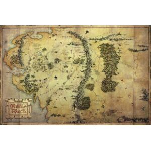 Pyramid International Poster Le Hobbit Journey Map (91,5 x 61 cm)