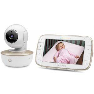 Motorola MBP855 - Ecoute bébé vidéo Wi-Fi avec écran 5.0 et caméra portable