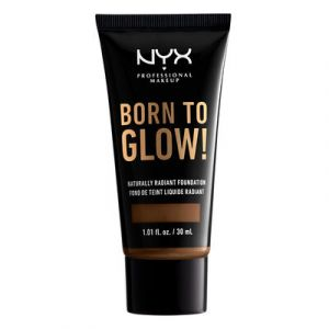 NYX Cosmetics Born To Glow Naturally Radiant Fondation Fond de Teint Fluide - Cocoa - Transparent