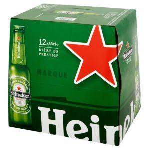 Heineken Bière blonde premium 5 - Le pack de 12x33cl