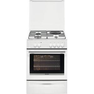 Brandt BCM6650W - Cuisinière mixte 3 foyers gaz avec four électrique