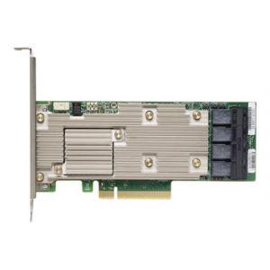 Lenovo ThinkSystem 930-16i - Contrôleur de stockage (RAID) - 16 Canal - SATA / SAS 12Gb/s profil bas - 12 Gbit / s - RAID 0, 1, 5, 6, 10, 50, JBOD, 60 - PCIe 3.0 x8 - pour ThinkSystem SR250, SR550, SR570, SR590, SR630, SR650, SR850, SR860, SR950, ST250, S