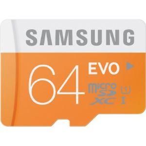 Samsung MB-MP64DA - Carte mémoire microSDXC EVO 64 Go classe 10 avec adaptateur SD