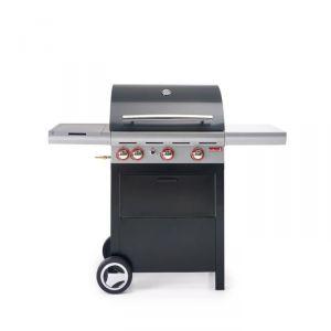 Barbecook Spring 350 - Barbecue à gaz 3 brûleurs + réchaud sur chariot