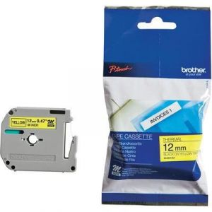 Brother MK631BZ - Cassette M-Tape, noir/jaune, 12 mm x 8 m
