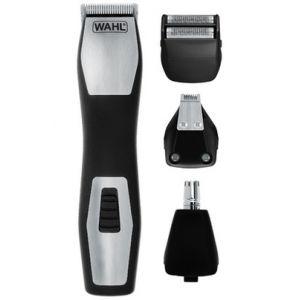 Wahl 09855-1216 - Tondeuse barbe, nez et oreilles GroomsMan Pro rechargeable