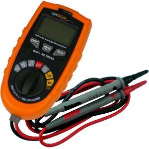 Lifedom Multimètre digital auto avec détecteur de courant et de métal