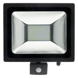 Elexity Projecteur LED 50W Noir avec détecteur - IP44 CE