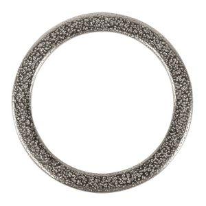 Rayher Anneau plat métal argent - 3,7 cm