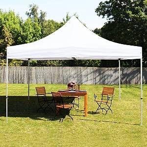 Intent24 Tente pliante 4x4 m sans bâches de côté blanc PROFESSIONAL tente pliable ALU pavillon barnum.FR