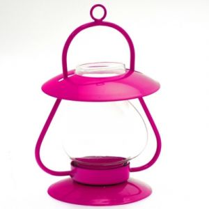 Atmosphera Lanterne décorative Essentiel - Verre soufflé - Rose