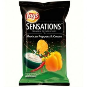 Lay's Chips sensations mexican peppers & cream