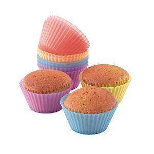 Domoclip 12 moules à cupcake en silicone