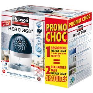 Rubson Absorbeur d'humidité 360° 20 m² + 3 recharges